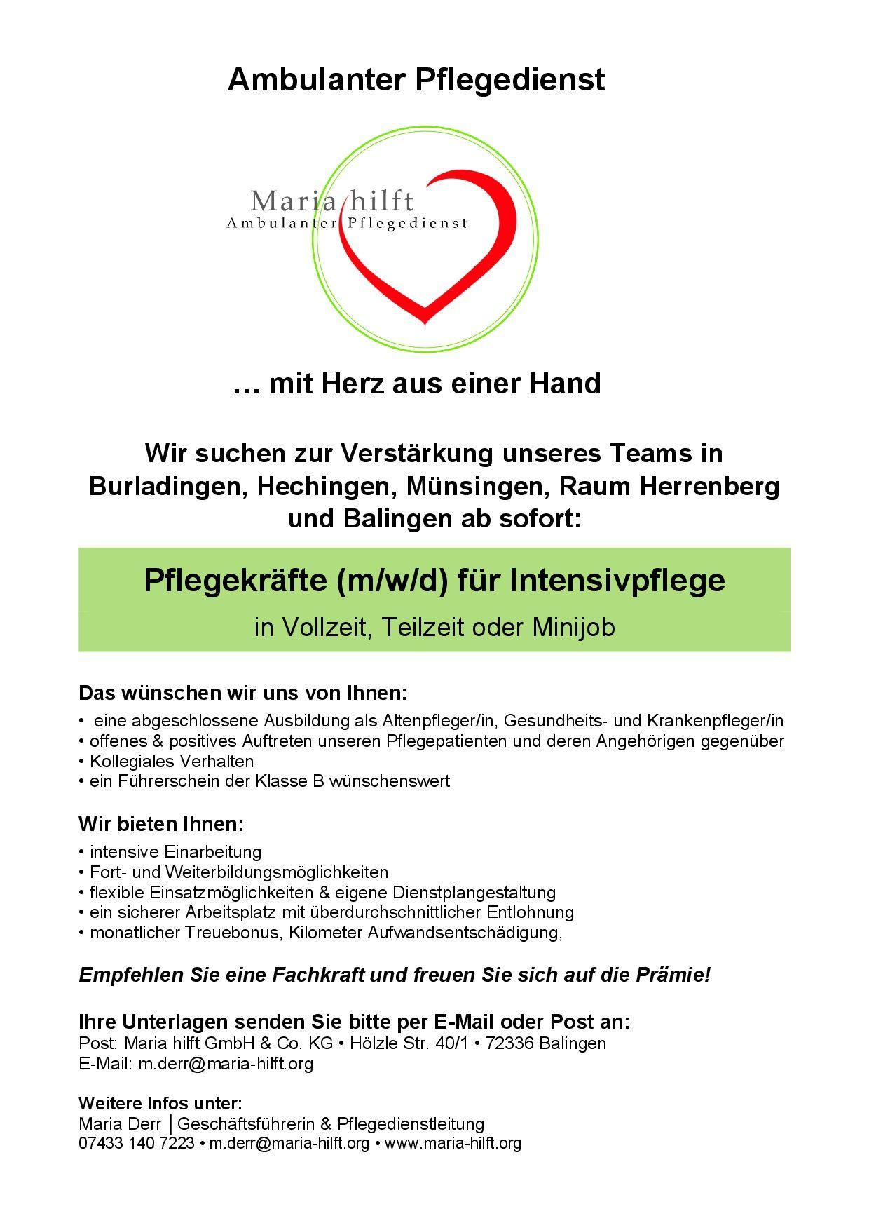 Maria hilft GmbH & Co. KG Website